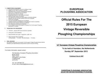 2015 Rules Vintage Reversible